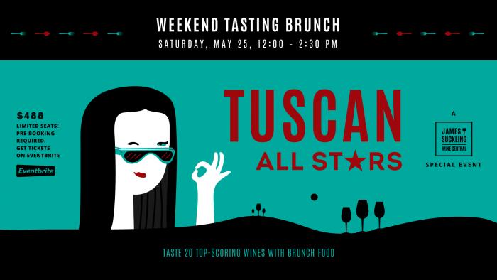 TUSCAN ALL STARS Weekend Wine Tasting Brunch – James